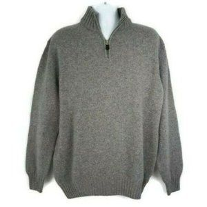 Blumarine Uomo 100% Wool Zip Pullover Sweater 2XL